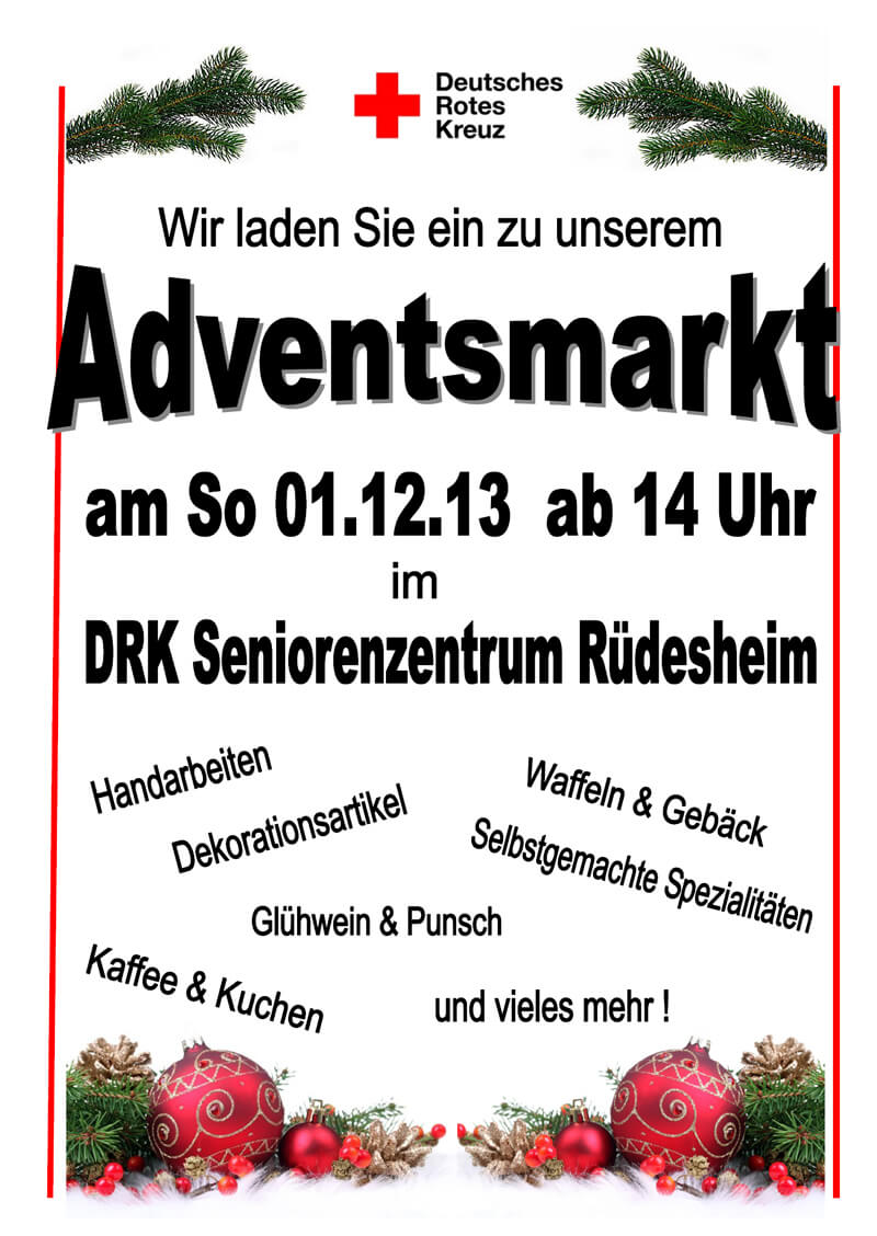 Adventsmarkt DRK 2013