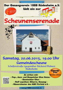 Gesangverein 18.05.15 Scheunenserenade