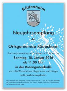 Neujahrsempfang Rüdesheim 2016